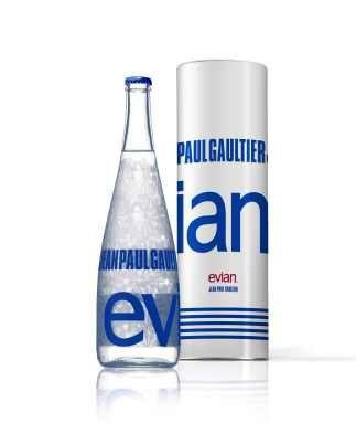 fles evian jean paul gaultier